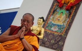 Уникальная свитковая живопись представлена в новом буддийском центре