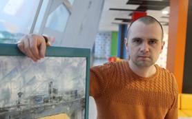 Сибирский художник рисует картины пластиковыми картами