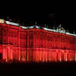 К юбилею революции 1917 года Эрмитаж «перекрасили» в красный цвет